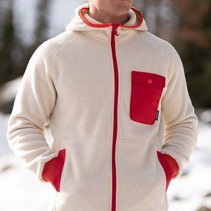 White Cubre Full-Zip Fleece Jacket - Men's